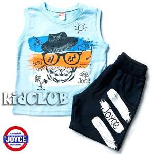 Σετ μπλούζα με βερμούδα παντελόνι αγόρι με στάμπα Sun Joyce