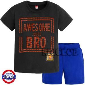 Σετ μπλούζα με βερμούδα παντελόνι αγόρι με στάμπα Bro Joyce