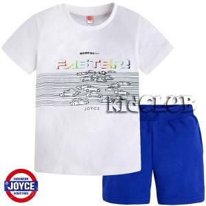 Σετ μπλούζα με βερμούδα παντελόνι αγόρι με στάμπα Race Joyce
