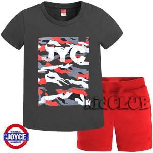 Σετ μπλούζα με βερμούδα παντελόνι αγόρι με στάμπα JYC Joyce