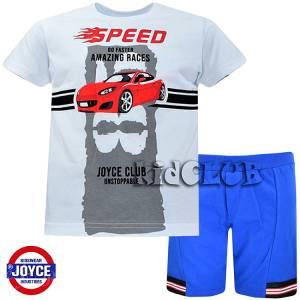Σετ μπλούζα με βερμούδα παντελόνι αγόρι με στάμπα Faster Joyce