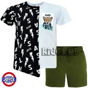 Σετ μπλούζα με βερμούδα παντελόνι αγόρι με στάμπα Go Joyce