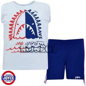 Σετ μπλούζα με βερμούδα παντελόνι αγόρι με στάμπα Wave Joyce
