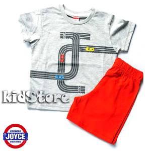 Σετ μπλούζα με βερμούδα παντελόνι αγόρι με στάμπα Start Joyce