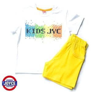 Σετ μπλούζα με βερμούδα παντελόνι αγόρι με στάμπα Pixel Joyce