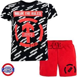 Σετ μπλούζα με βερμούδα παντελόνι αγόρι με στάμπα Break Joyce