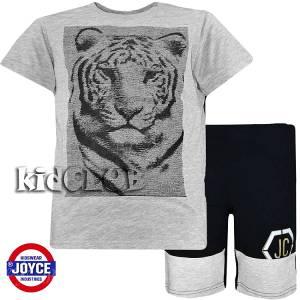 Σετ μπλούζα με βερμούδα παντελόνι αγόρι με στάμπα τίγρη Joyce