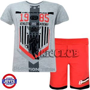 Σετ μπλούζα με βερμούδα παντελόνι αγόρι με στάμπα Champion Joyce