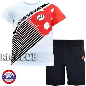 Σετ μπλούζα με βερμούδα παντελόνι αγόρι με στάμπα 85 Joyce