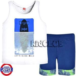 Σετ μπλούζα με βερμούδα παντελόνι αγόρι με στάμπα Slide Joyce