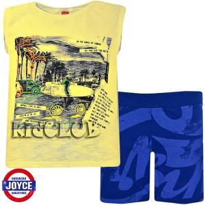 Σετ μπλούζα με βερμούδα παντελόνι αγόρι με στάμπα Road Joyce