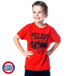 Μπλούζα με κοντό μανίκι για αγόρι σταμπωτό Hot Joyce