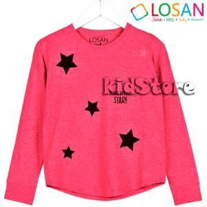 Μπλούζα μακρυμάνικη Αστέρια για κορίτσι Losan