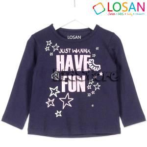 Μπλούζα μακρυμάνικη Just για κορίτσι Losan