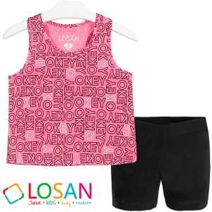 Σετ μπλούζα με κοντό παντελόνι κορίτσι O.k. LOSAN