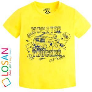 Μπλούζα κοντομάνικη αγόρι τύπωμα racer Losan