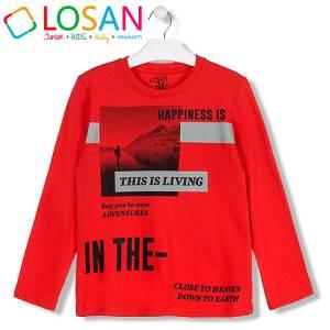 Μπλούζα μακρυμάνικη αγορίστικη με τύπωμα Adventures Losan
