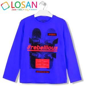 Μπλούζα μακρυμάνικη αγορίστικη με τύπωμα Shoes Losan