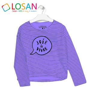 Μπλούζα μακρυμάνικη κοριτσίστικη με τύπωμα Joie Losan