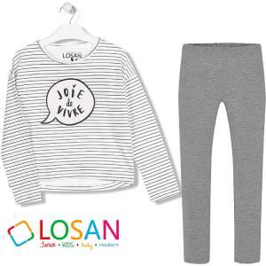 LOSAN Σετ μπλούζα με κολάν για μεγάλο κορίτσι Vivre της Λοσάν
