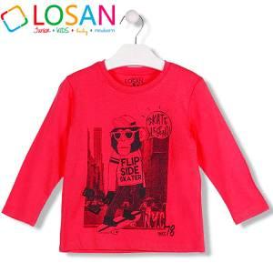 Μπλούζα μακρυμάνικη αγορίστικη με τύπωμα Legent Losan