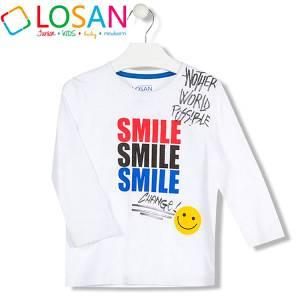 Μπλούζα μακρυμάνικη αγορίστικη με τύπωμα Posible Losan