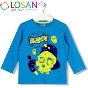 Μπλούζα μακρυμάνικη αγορίστικη με τύπωμα YO Losan