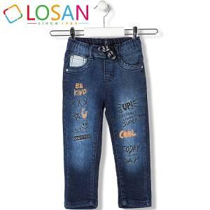 Παντελόνι τζιν μακρύ με λάστιχο στη μέση σταμπωτό για αγόρι Losan