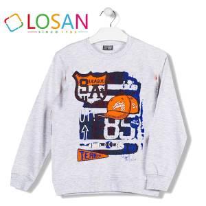 Μπλούζα φούτερ αγορίστικη με τύπωμα League Losan