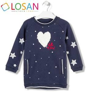 Φόρεμα φούτερ με τύπωμα Stars κοριτσίστικο Losan