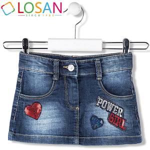 Φούστα τζιν κοντή κοριτσίστικη Losan
