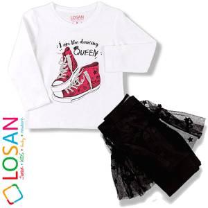 Σετ κολάν με φούστα και μπλούζα baby κορίτσι Queen Losan