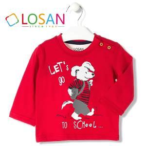 Μπλούζα μακρυμάνικη Σκύλος για baby αγόρι Losan