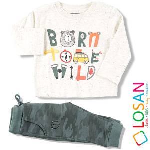 Σετ μπλούζα μακό και φούτερ παντελόνι αγορίστικο Born Losan