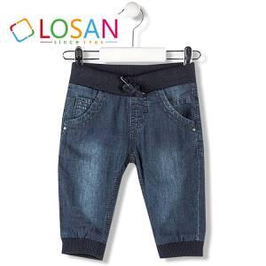 Παντελόνι τζιν μακρύ με λάστιχο και φόδρα μακό για baby αγόρι Losan