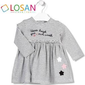 Φόρεμα βρεφικό κοριτσίστικο ριγέ Losan
