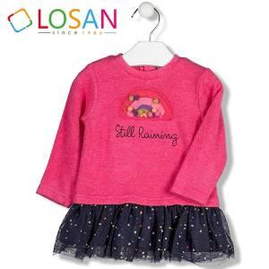 Φόρεμα βρεφικό κοριτσίστικο συνδιασμένο Losan