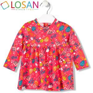Φόρεμα βρεφικό κοριτσίστικο μακό με τύπωμα Losan
