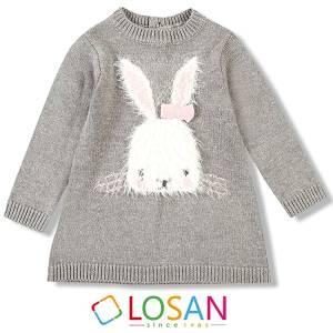 Φόρεμα βρεφικό κοριτσίστικο πλεκτό Losan