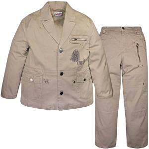 Σακάκι και παντελόνι από ύφασμα καμπαρντινέ