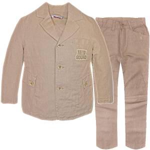 Σακάκι και παντελόνι από ύφασμα λινό