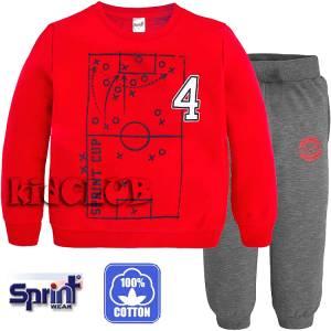 Φόρμα φούτερ με τύπωμα Soccer SPRINT