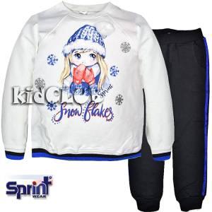 Φόρμα φούτερ με τύπωμα Winter SPRINT