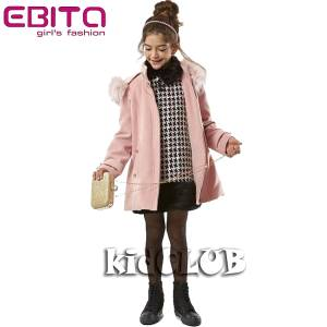 Φόρεμα συνδυασμένο με γουνάκι για κορίτσι EBITA