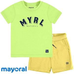 Σετ κοντομάνικο αγορίστικο Basics Mayoral