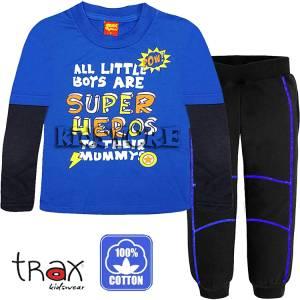 Φόρμα ψιλή βαμβακερή τύπωμα Super TRAX