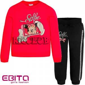 Φόρμα φούτερ κοριτσίστικη με στάμπα foto EBITA  Fashion