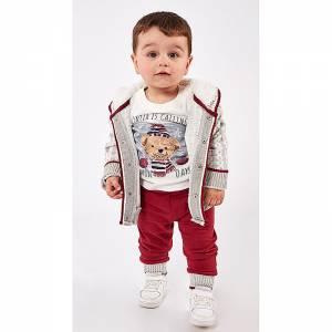 Φόρμα φούτερ για μωρό αγόρι με τύπωμα 3 Τεμάχια Hashtag
