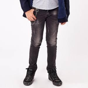 Παντελόνι μακρύ τζιν με λάστιχο Regular fit για αγόρι Hashtag