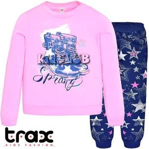 Φόρμα φούτερ κοριτσίστικη με στάμπα Boots TRAX